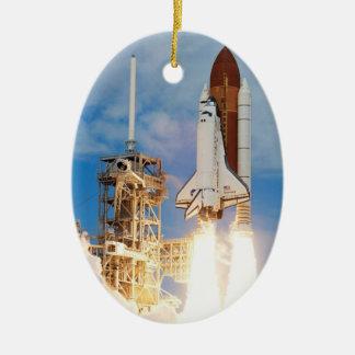 El ornamento del descubrimiento del transbordador ornamento para arbol de navidad