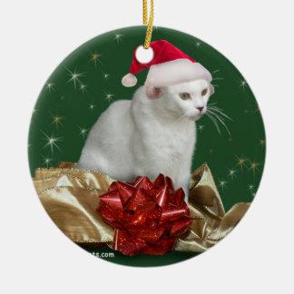 El ornamento del día de fiesta del gato de ornatos