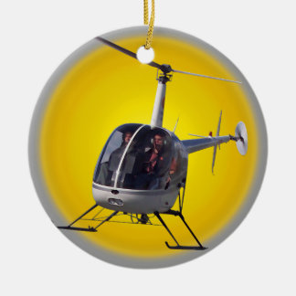 El ornamento del helicóptero personaliza la decora ornamente de reyes