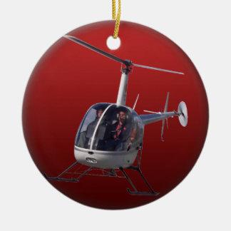El ornamento del helicóptero personaliza la decora ornamento de reyes magos