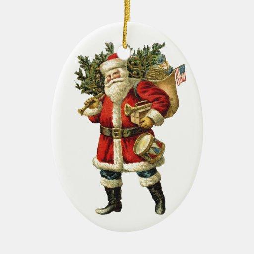 El ornamento del navidad de Santa del vintage Ornamentos De Reyes
