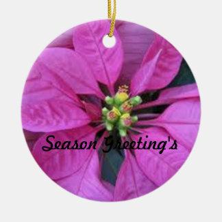El ornamento del saludo de la estación de ornaments para arbol de navidad