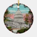 El ornamento del vintage del capitolio de los E.E. Ornamento De Navidad