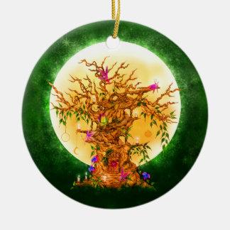 El ornamento encantado de Yule del árbol del Faeri Ornamentos De Reyes