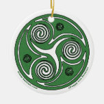 El ornamento espiral irlandés #2 de Triskel Ornamento Para Reyes Magos