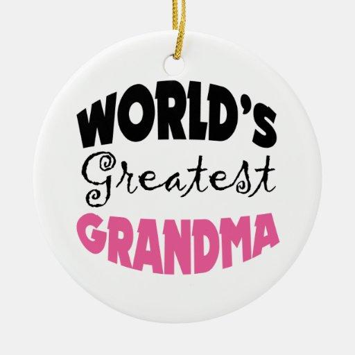 El ornamento más grande del navidad de la abuela d adorno