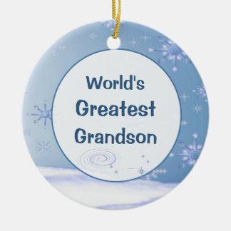 El ornamento más grande del nieto del navidad del  ornamento de navidad