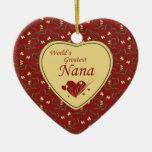 El ornamento más grande del rojo de Nana del mundo Ornaments Para Arbol De Navidad