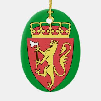 El ornamento Norske del navidad de NORWAY* julen Adorno Ovalado De Cerámica