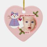 El ornamento personalizado primer navidad del bebé adornos