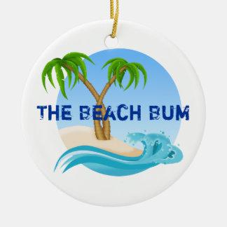 El ornamento personalizado vago de la playa ornaments para arbol de navidad