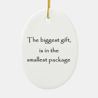 El ornamento regalo-oval más grande adornos de navidad