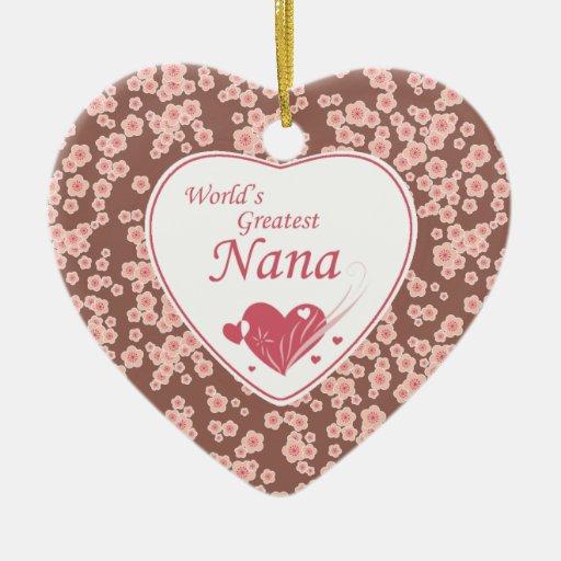 El ornamento rosado más grande de la flor de cerez ornamento de navidad