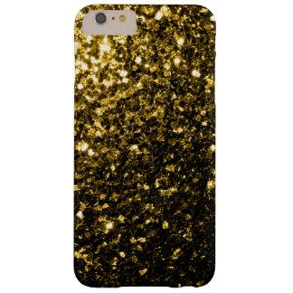 El oro amarillo hermoso chispea caso más del funda de iPhone 6 slim