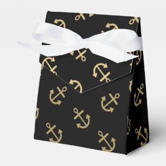 El oro ancla el modelo negro del fondo cajas para regalos de boda