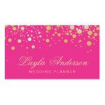 El oro atractivo puntea la decoración - rosa tarjetas de visita