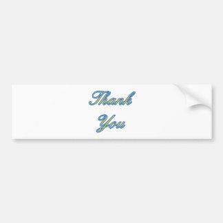 El oro azul le agradece diseñar los regalos de Zaz Pegatina Para Auto