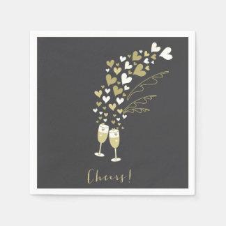 El oro Champán anima al banquete de boda del Servilleta De Papel