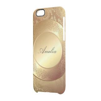 El oro, cinta, cordón, negro, elegante, plantilla, funda clearly™ deflector para iPhone 6 de uncommon