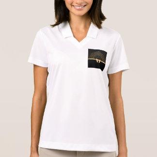 El oro, cinta, cordón, negro, elegante, plantilla, camiseta polo