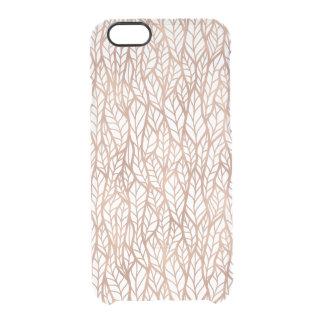 El oro color de rosa sale del modelo transparente funda clearly™ deflector para iPhone 6 de uncommon