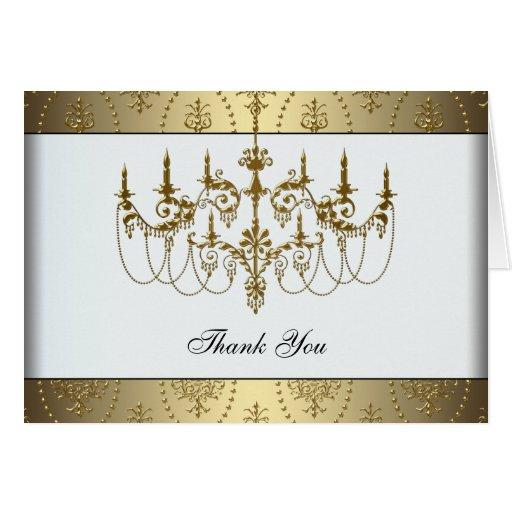 El oro con clase de la lámpara elegante del oro le tarjeta pequeña