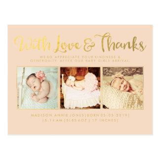 El oro con el sorbo del amor y de las gracias y ve postales