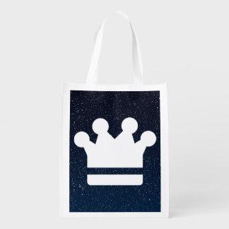 El oro corona el icono bolsas de la compra
