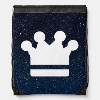 El oro corona el icono mochila