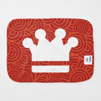 El oro corona el icono paños para bebé