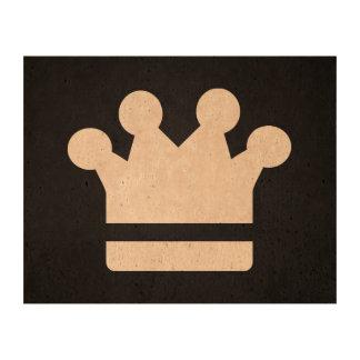 El oro corona el icono papel de corcho para fotos