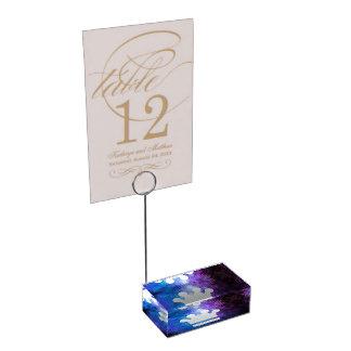 El oro corona el icono soportes de tarjeta de mesa