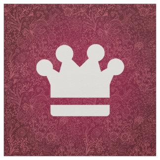 El oro corona el icono telas