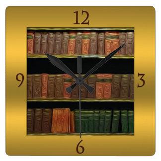 El oro cuadrado del aficionado a los libros reloj