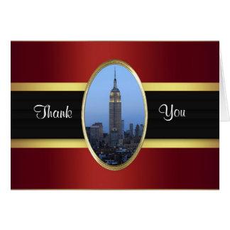 El oro de Borgoña del Empire State Building 03 le Tarjeta Pequeña