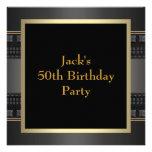 El oro de cuero sirve a la 50.a fiesta de cumpleañ comunicado personalizado