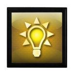 El oro de Giftbox inclina el icono Caja De Joyas