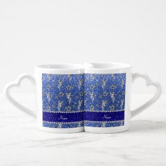 El oro de hadas de plata conocido personalizado taza para parejas