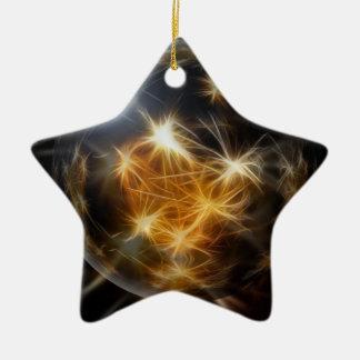 El oro de la bola del advenimiento enciende la dec adorno de navidad