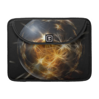 El oro de la bola del advenimiento enciende la dec funda para macbooks