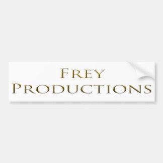El oro de las producciones de Frey redacta a la pe Etiqueta De Parachoque