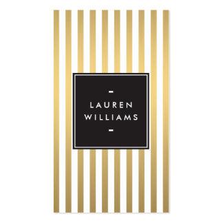 El oro de lujo raya el boutique, moda, belleza tarjetas de visita