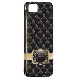 El oro de lujo rayó la caja del iPhone 5 de los iPhone 5 Carcasa