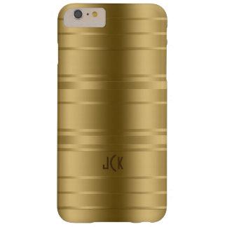 El oro de Monogramed raya diseño moderno