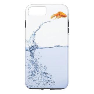 El oro de salto pesca el caso más del iPhone 7 Funda iPhone 7 Plus