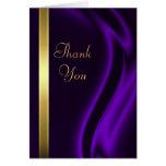 El oro de seda púrpura del marqués le agradece Not Felicitación