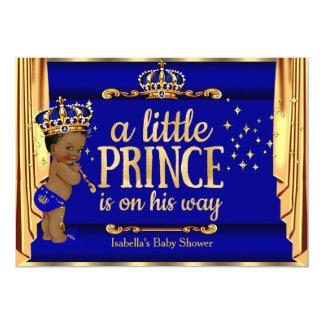 """El oro del azul real cubre al príncipe fiesta de invitación 5"""" x 7"""""""