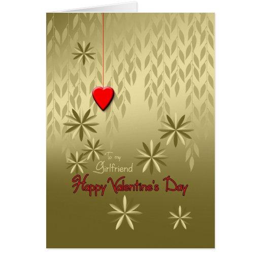 El oro del el día de San Valentín de la novia sale Tarjeta De Felicitación