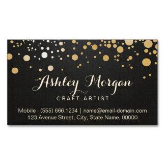 El oro del encanto puntea la decoración - mirada tarjetas de visita magnéticas (paquete de 25)