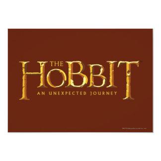 """El oro del logotipo de Hobbit Invitación 5"""" X 7"""""""